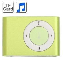 TF (Micro SD) kaartsleuf MP3-speler met metalen Clip (lichtgroen)