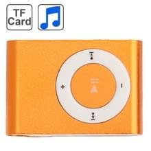 TF (Micro SD) kaartsleuf MP3-speler met metalen Clip(Orange)