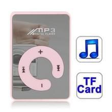 Spiegel MP3-speler met TF kaartslot  Clip(Pink)