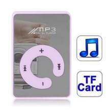 Spiegel MP3-speler met TF kaartslot  Clip(Purple)