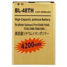 4200mAh hoge capaciteit gouden Business accu voor de LG Optimus G Pro / F240K / F240S / F240L / E988 / E980 / D684