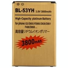 BL-53YH 3800mAh hoge capaciteit gouden Business accu voor de LG G3 / D855 / VS985 / D830 / D851 / F400 / D850