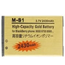 2430mAh M-S1 hoge capaciteit gouden editie Business batterij voor BlackBerry 9000 / 9700 / 8980
