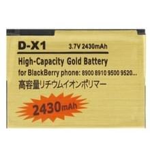 2430mAh D-X_1 hoge capaciteit gouden editie Business batterij voor BlackBerry 8900 / 8910 / 9500 / 9520