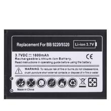 1600 mAh Replacement Battery for Blackberry Curve 9220 / 9320