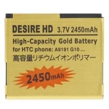 2450mAh gouden batterij met hoge capaciteit voor de HTC Desire HD