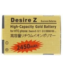 2450mAh gouden batterij met hoge capaciteit voor de HTC Desire S / Desire Z / G12 in het bestand / S510e / G11 / BB9610