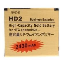 2430mAh batterij met hoge capaciteit gouden Business voor HTC Touch HD2 / T8585 / T8588