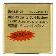 2450mAh hoge capaciteit Gold batterij voor HTC EVO 3D / sensation xl / G14 / X515m / G17 Sensation XE Z715e / G18
