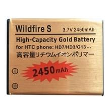 2450mAh gouden batterij met hoge capaciteit voor HTC Wildfire S / G13 / HD7 / HD3