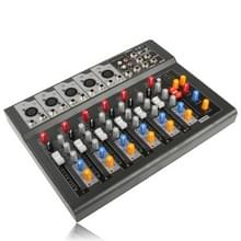 Professional 7-kanaals Mixing Console en Aux paden Plus effecten Processor(Black)