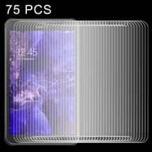 75 pc's 0.4mm 9 H + oppervlaktehardheid 2.5D Explosieveilig gehard glas-Film voor Galaxy Tab Active / T360