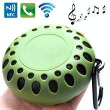 Outdoor sporten draagbare waterdichte Bluetooth luidspreker met Hang gesp  Hands-free bellen  NFC functie  BTS-25OK (leger-groen)