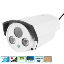 H.264 Wired Array LED Infrared 720P Bullet IP Camera  1.0 Mega Pixels 6mm Fixed Focal Lens  Motion Detection / Privacy Mask and 30m IR Night Vision  Compliant to Onvif 2.1 (With CE & Rohs Certificate)