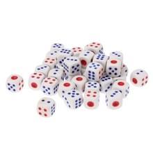 Gaming Dice Set voor vrije tijd spelen  Afmeting: 11 mm x 11 mm x 11 mm  4 stuks0wit