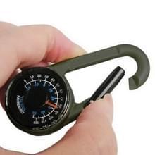 Karabijnhaak belangrijke kompas & Thermometer wandelen buiten reizen