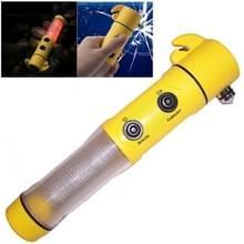 4 in 1 Multi functie zaklamp Alarm nood hamer Leidene flits licht voor Auto-used(Yellow)