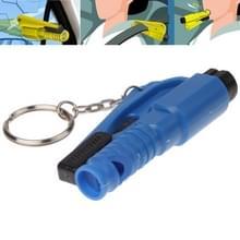 3-in-1 Rescue Tool Whistle  gordel kotter + venster breken Keychain(Dark Blue)