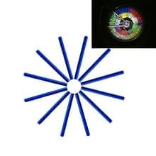 OQSPORT 12 stuks fietswiel sprak Reflector reflecterende Mount Clip Tube waarschuwing licht Strip(Blue)