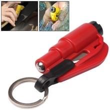 3 in 1 auto van nood hamer / Key Chain / mes gebroken glas draagbare Tool(Red)