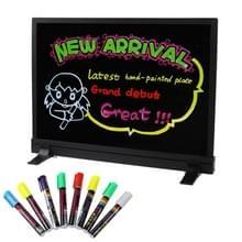 Kleurrijke LED TL Message Board met 8ST markeerstift pennen  formaat: 50 x 40cm