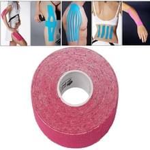 Waterdichte Kinesiologie Tape sport spieren zorg therapeutische Bandage  grootte: 5m(L) x 5cm(W)(Magenta)