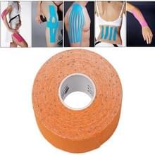 Waterdichte Kinesiologie Tape sport spieren zorg therapeutische Bandage  grootte: 5m(L) x 5cm(W)(Orange)