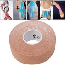 Waterdichte Kinesiologie Tape sport spieren zorg therapeutische Bandage  grootte: 5m(L) x 2.5cm(W)(Apricot)