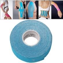 Waterdichte Kinesiologie Tape sport spieren zorg therapeutische Bandage  grootte: 5m(L) x 2.5cm(W)(Blue)
