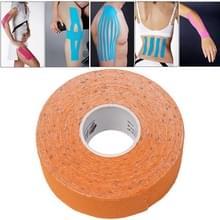 Waterdichte Kinesiologie Tape sport spieren zorg therapeutische Bandage  grootte: 5m(L) x 2.5cm(W)(Orange)