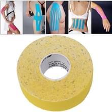 Waterdichte Kinesiologie Tape sport spieren zorg therapeutische Bandage  grootte: 5m(L) x 2.5cm(W)(Yellow)
