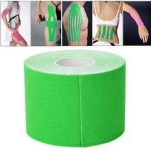 5M waterdicht sport Tape sport spieren zorg therapeutische Bandage  breedte: 5cm(Green)