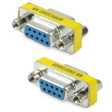 Seriële RS232 DB9 9 Pin vrouwtje naar vrouwtje Adapter Converter