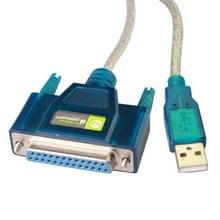 USB 2.0 naar DB25 Pin vrouwtje kabel  Lengte: 1.5 meter
