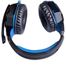 EACH G2000 Over-ear Stereo Bass Gaming Headset with Mic & LED Light for Computer  Cable Length: 2.2m(Blue)