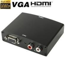 Full HD 1080P VGA naar HDMI Adapter  1.3 Versie HDMI Standaard(zwart)