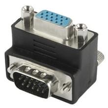 90 graden VGA 15 Pin mannetje naar vrouwtje rechte hoek Adapter