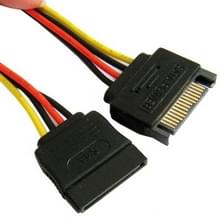 SATA 15-Pin Male to 15-Pin Female Power Extension Cable  Length: 15cm