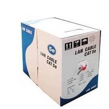 LAN Kabel (CAT5E Data kabel), koper-clad aluminium (CCA), koper bekleed staal (CCS), Lengte: 305M, Diameter: 0.35mm