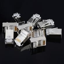 100 stuks Hoge kwaliteit RJ45 afgeschermd Plug Cat5 8P8C Lan Connector netwerk