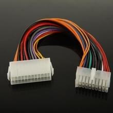 20 Pin vrouwtje naar 24 Pin mannetje Adapter Power verleng kabel  Lengte: 25 cm