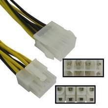 8 Pin mannetje naar 8 pin vrouwtje Power verleng kabel  Lengte: 26.5cm