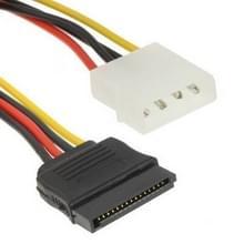 4 Pin IDE naar Seriëel ATA SATA Power Adapter (15cm), materiaal: Cu