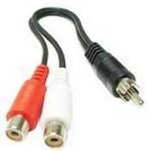1 RCA AV vrouwtje naar 2 RCA mannetje Y Splitter Video Kabel Adapter  Lengte: 26.5cm