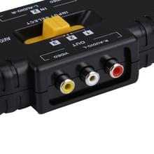 AV Audio-Video Signaal Switcher  3 Groeps Input en 1 Groep Output (zwart)