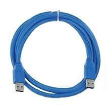 USB 3.0 A mannetje naar A mannetje verleng kabel  Lengte: 1.8 meter
