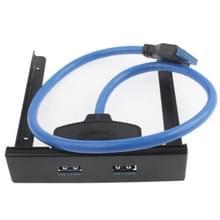 USB 3.0 Front Paneel Floppy Disk opening 20 Pin 2 Poorts HUB Bracket kabel (zwart)