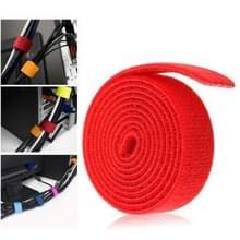 Multifunctie Velcro Computer Kabel banden  rood (breedte: 20mm  Lengte: 1 1 miljoen)