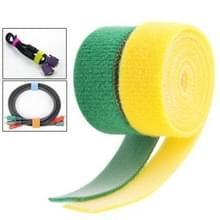 Multifunctie Velcro Computer Kabel banden  geel & Green (breedte: 20mm  Lengte: 2 x 50cm)