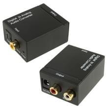 Digitale optische coaxiale Toslink naar analoge RCA Audio Converter(Black)
